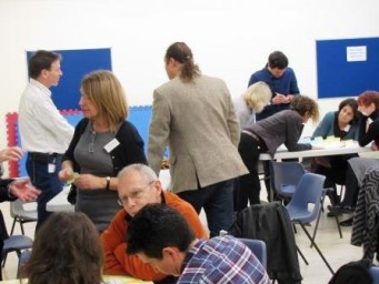 Attendees Discussing in Groups at Our March Conference 2014