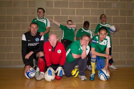 men in football gear